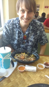 Dr. Allen enjoying Pollo Tropical